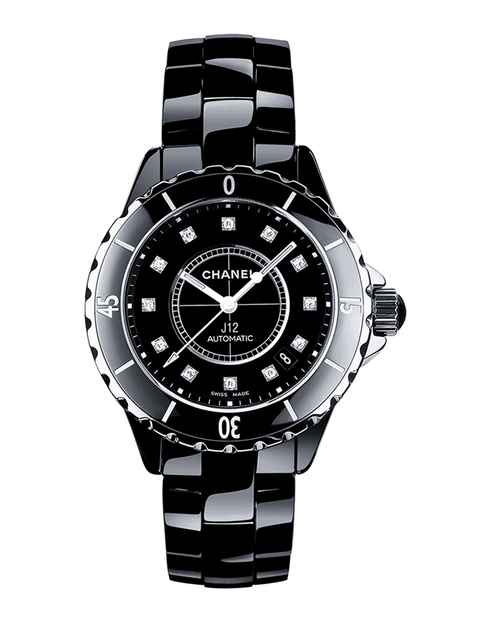 Chanel Watch model J12 at Auction, Automatic Quarz Black - H1625 - Women