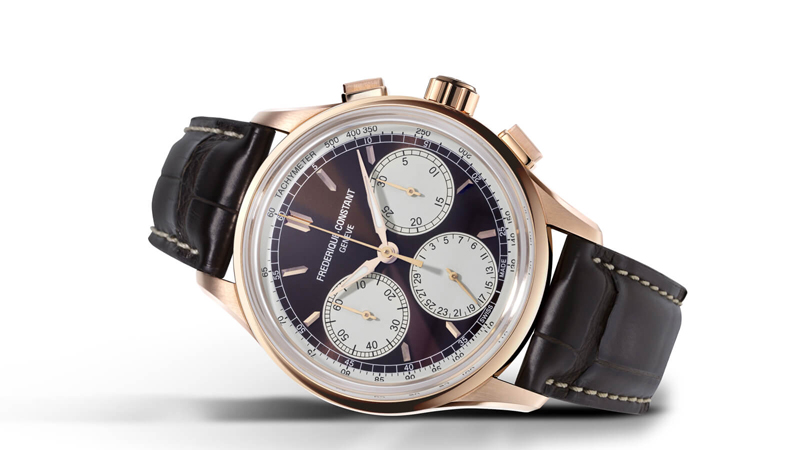 Frederique Constant Flyback Chronograph Manufacture 2020 Review - Rose Gold & Brown