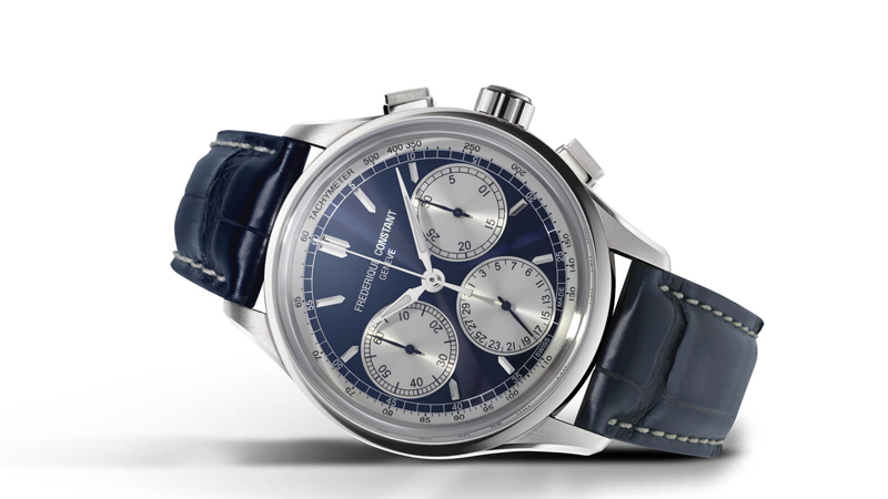 Frederique Constant Flyback Chronograph Manufacture 2020 Review - Steel Color & Blue