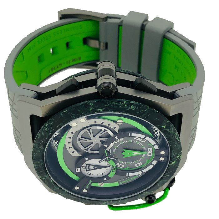 Mazzucato Watch model RIM Reversible Monza Racing at Auction, Carbon Fiber Black Green Automatic and Chronograph – LIMITED EDITION – Men – Brand New