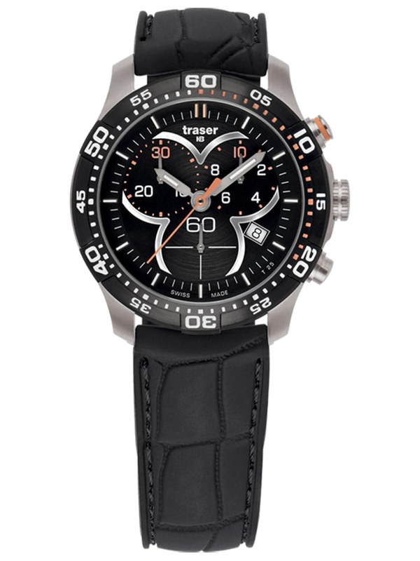Traser Watch model T73 Lady Time at Auction, Chronograph Black with Silicone Strap - 100314 - Women - Brand New