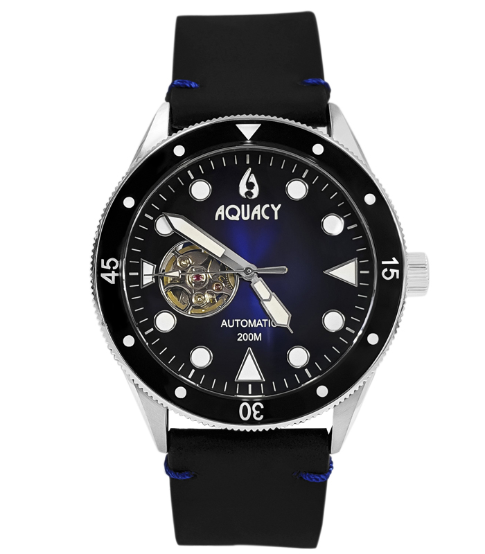 Aquacy Watch model Cave Diver Automatic 200 M at Auction, Black Blue Dial - Men - 2011-present