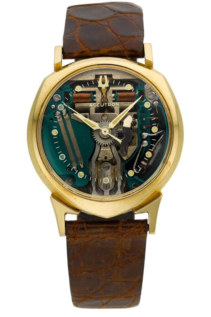 Bulova Watch model Accutron Spacewiew M6 at Auction, Tuning Fork - Gold Filled - Men - 1966