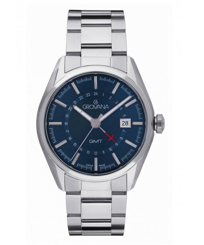 Grovana Watch model GMT Blue Sunburst at Auction, Swiss Made - Men - 2011-present