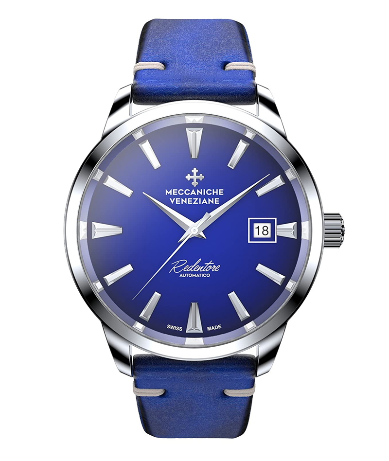 Meccaniche Veneziane Watch model Automatic Redentore 40mm at Auction, Cobalto Blue Dial with Italian Leather Strap - Men - 2011-present